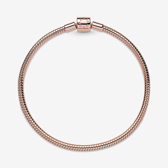 PANDORA Moments Barrel Clasp Snake Chain Charm Bracelet