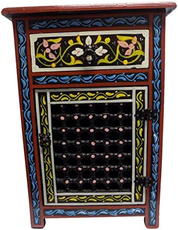 Moroccan Moucharabieh Nightstand Table Arabic Design Furniture Black