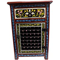 Moroccan Moucharabieh Nightstand Table Arabic Design Furniture (Black)