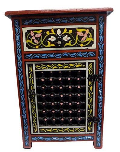 Cheap Moroccan Moucharabieh Nightstand Table Arabic Design Furniture (Black)