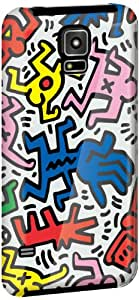 GRAPHT Keith Haring Official Licensed case for Galaxy S5 - Carrying Case - Retail Packaging - CHAOS