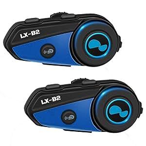 Auriculares inalámbricos para casco de moto, estéreo, alta fidelidad, intercomunicador, LX-B2, de Lexin