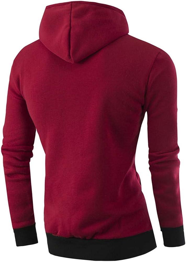 Sweat-Shirt Hommes Manadlian Veste Homme Classique Manteaux D/écontract/é Trench Coat Zipp/é Blouson Veste Sport Automne Hiver