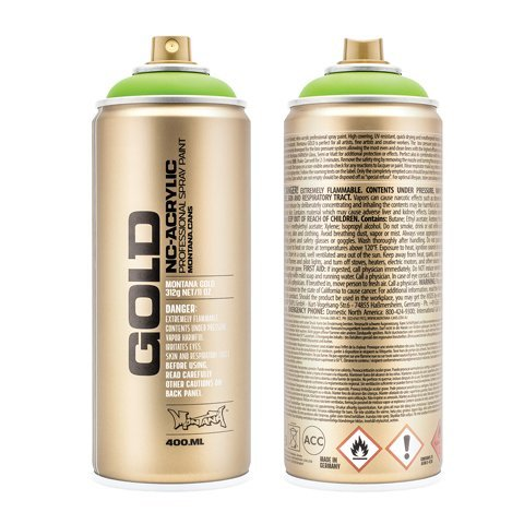 Montana GOLD Acrylic Professional Spray Paint 400 ml - Acid Green Fluorescent by Montana (Montana Green)