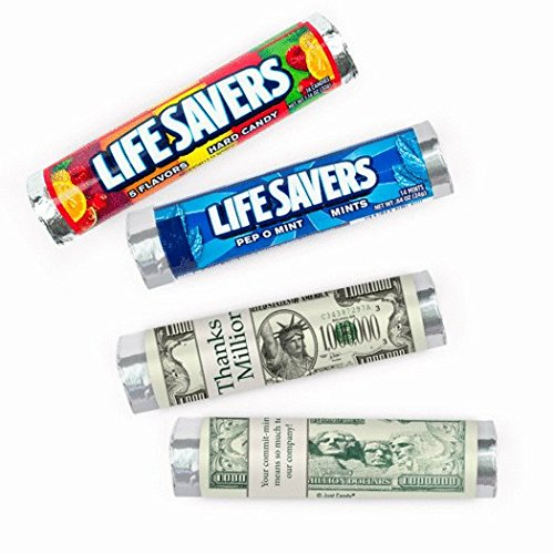 Thank You Candy Personalized Thanks a Million Lifesavers 5 Flavor Rolls (20 Rolls)