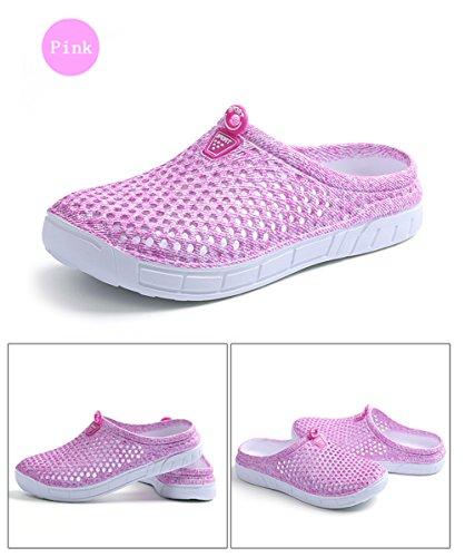 Blankey Unisex Sneldrogend Water Schoenen Slippers Tuin Klomp Voor Vrouwen Heren Beachwear Sandalen Watersport Roze