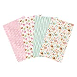 Trend Lab Elephants and Owls Flannel Burp Cloth Set, 4 Piece