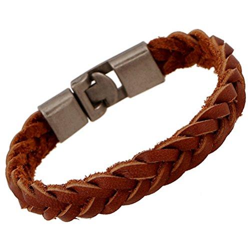 Superhai Simple Fashion Leather Bracelet Bracelet Woven Bracelet