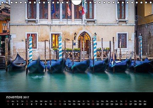 Venise - ville magique : Sélection de photographies de Venise en longue exposition. Calendrier mural A4 horizontal 2017