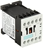 Siemens 3RT10 16-1AK61 Motor Contactor, 3 Poles, Screw Terminals, S00 Frame Size, 1 NO Auxiliary Contact, 120V at 60Hz and 110V at 50Hz AC Coil Voltage Voltage