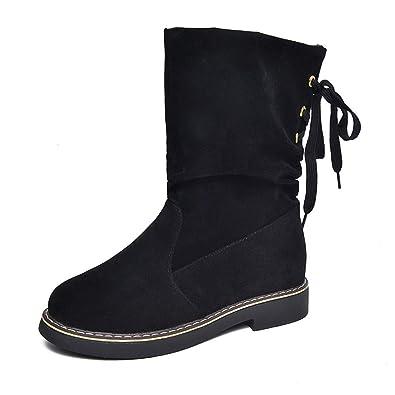 6d340affcd Givekoiu Boots Women Ladies Knee High Wide Fit Black Flat Biker ...