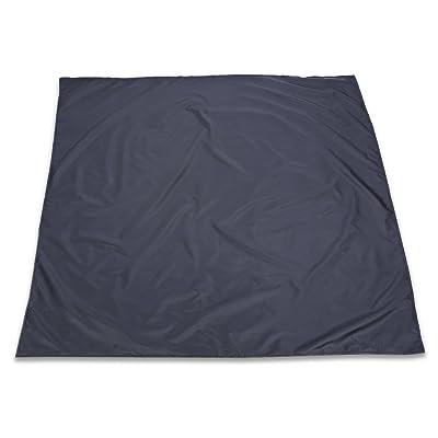 étanche à l'humidité extérieure Plage Tapis de camping pique-nique couvertures pliable Mat–Noir
