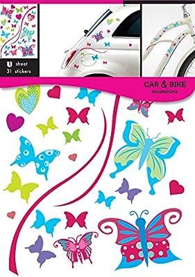 Pegatinas de mariposas para coche y bicicleta: Amazon.es: Coche y moto