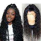 Luduna 13x4 Water Wave Wigs Human Hair Lace Front Wigs with Baby Hair