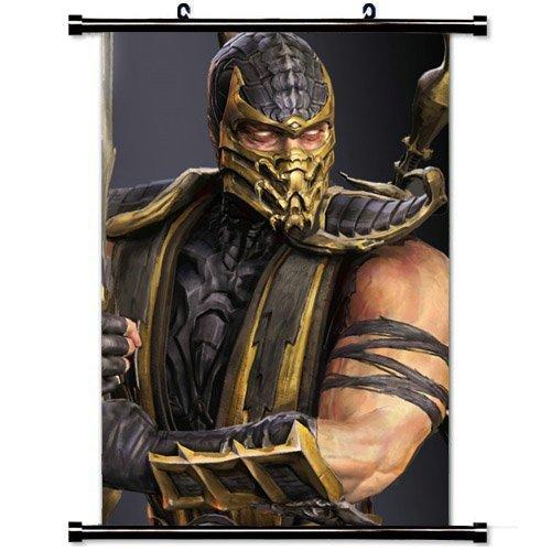 MiniGao Wall Scroll Poster with Mortal Kombat Scorpion