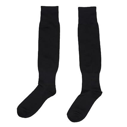 Hombres calcetines largos - SODIAL(R)Hombres Deportes Futbol calcetines largos de alta calcetin