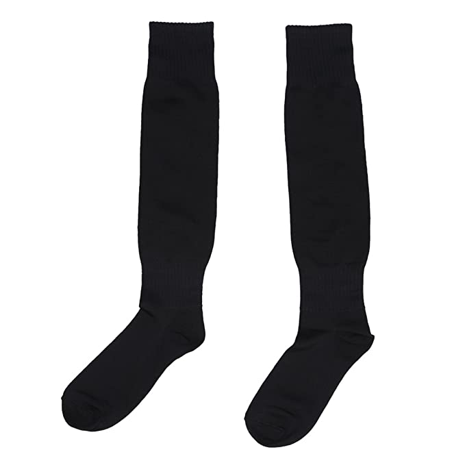 Hombres calcetines largos - SODIAL(R)Hombres Deportes Futbol calcetines largos de alta calcetin Beisbol Hockey (negro): Amazon.es: Deportes y aire libre