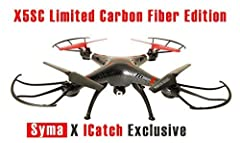 *ICatch Exclusive X Syma X5SC-CE* Deluxe Syma X5SC-CE Explorers 2 Carbon Fiber Special Limited Edition 6 Axis Gyro - Equipped with the latest 6-axis flight control systems, 3D lock, More scheduled flight, operating more to the force! 360° Eve...