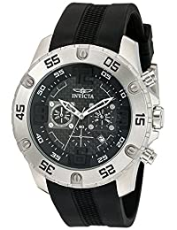 Invicta Men's 'Pro Diver' Quartz Stainless Steel and Silicone Automatic Watch, Black (Model: 21960)