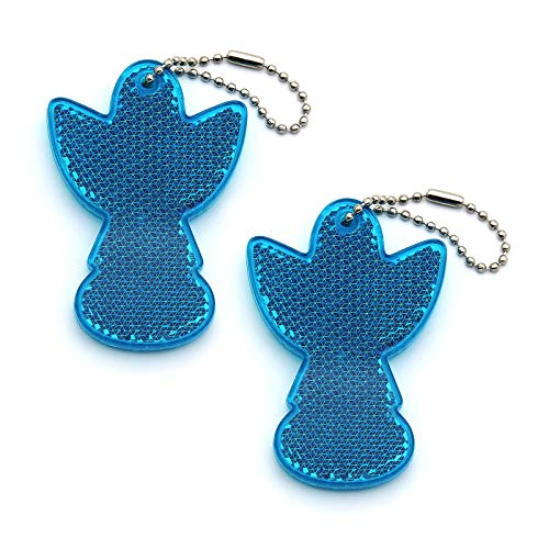 2Pcs Super Bright Children's Safety Reflective Gear, Stylish Pendant Keychain Reflector for Bags Strollers Wheelchair Clothing, Christmas Halloween Party Hanging Decoration ()