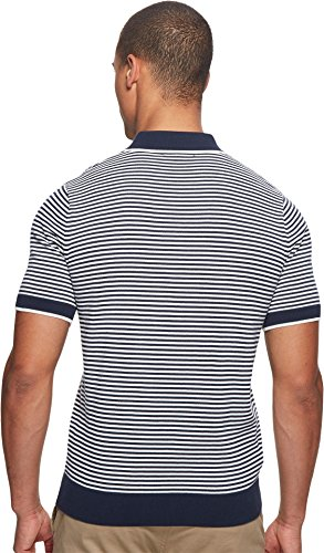 Fred Perry  Men's Fine Stripe Knitted Shirt Deep Carbon X-Large by Fred Perry (Image #2)