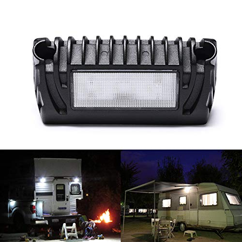 MICTUNING RV Exterior LED Porch Utility Light - 12V 750 Lumen Awning Lights | Replacement Lighting for RVs Trailers Campers (Rv Light Porch Led)