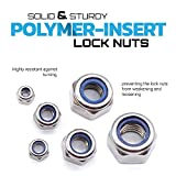 304 Stainless Steel Lock Nut Assortment 170 Pcs, M3