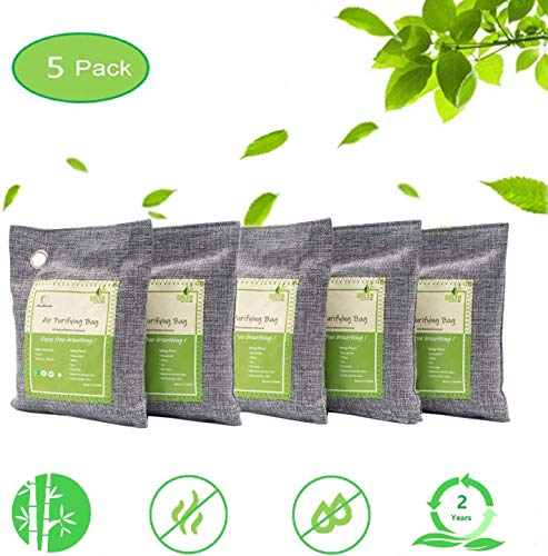 Activated Bamboo Charcoal Bags Air Purifying Bags Natural Air Purifier Freshener Neutralizer Filter Odor Remove…