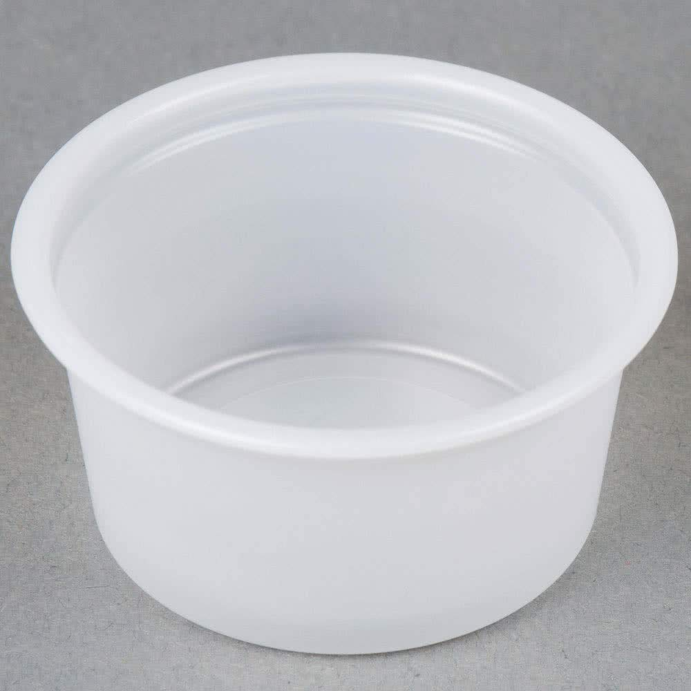 Gordon Food Service 200PC .75 oz Plastic Souffle Portion Cup, Crafts Translucent, 200/Pack