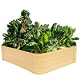 Metal Raised Garden Beds for Vegetables Outdoor Planter Box Galvanized...