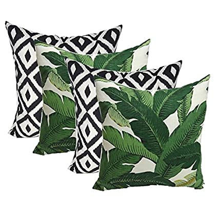 Amazon.com : Set of 4 Indoor Outdoor Decorative Throw Pillows, Tommy ...