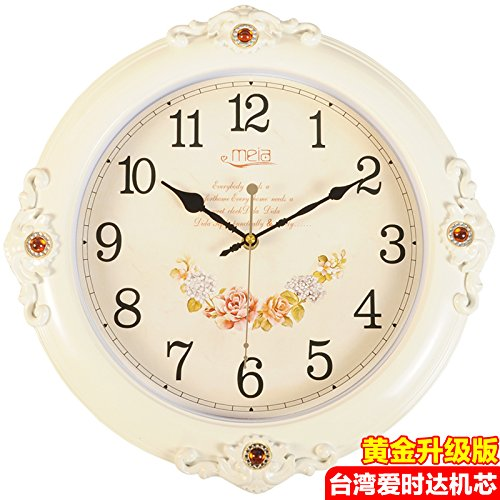 FortuneVin Wall Clock Non-ticking Number Quartz Wall Clock Living Room Decorative Indoor Bedroom Kitchen 16 In Silent, Wall Table Creative Quartz16 India40.5Cm Classic White