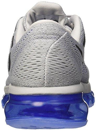 Nike Air Max 2016, Zapatillas de Running para Hombre, Blanco, Media Gris / Negro / Azul (Wolf Grey/Black-Racer Blue-Sl)