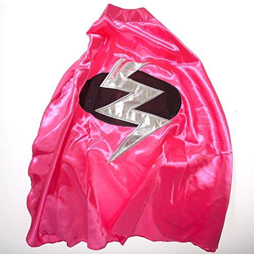 Children's Pink Lightning Bolt Superhero Cape - Lightning Bolt Costumes