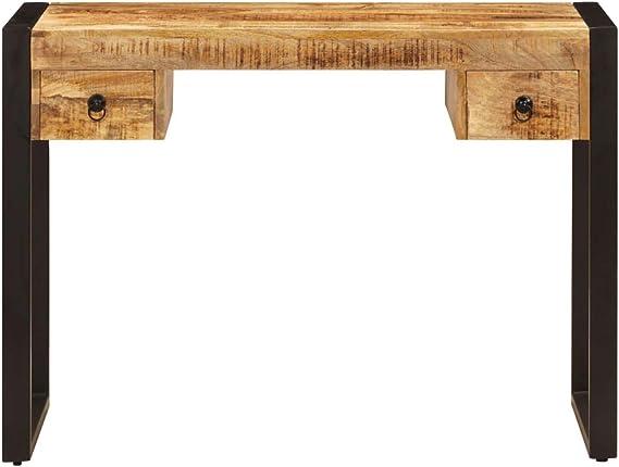 Tiroirs avec 2 de Manguier Bureau Massif Table vidaXL Bois sdrCxthQ
