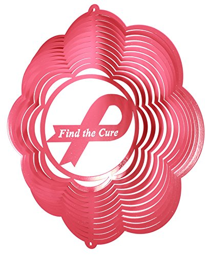 BREAST CANCER FIND A CURE Metal Wind Spinner
