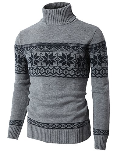 H2H Mens Casual Slim Fit Knit Cardigan with Double Shawl Collar Gray US XL/Asia XXL (CMOSWL012)