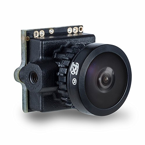"FXT 800TVL Mini FPV Camera PAL/NTSC Integrated OSD 1/3"" CMOS CAM for Drone Quadcopter (T80 Black) by FXT"
