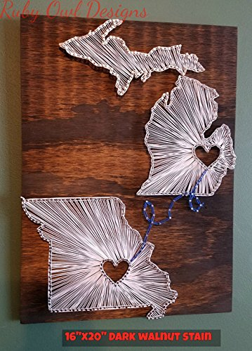 Any 2 State String Art Sign, Separate, Made to Order