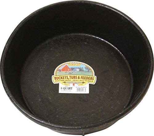 Miller Manufacturing HP8 Rubber Feed Pan for Dogs and Horses, 8-Quart