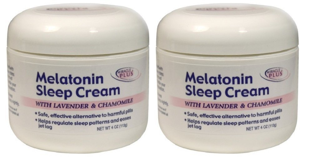 Amazon.com: Miracle Plus Melatonin Sleep Cream, 4 Ounce (pack of 2): Beauty