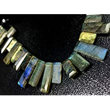 NATURAL LABRADORITE RECTANGLE FACETED NUGGETS LOOSE GEMSTONE SLICE BEADS WHOLESALE LOT GEMSTONE BEADED JEWELRY NECKLACE