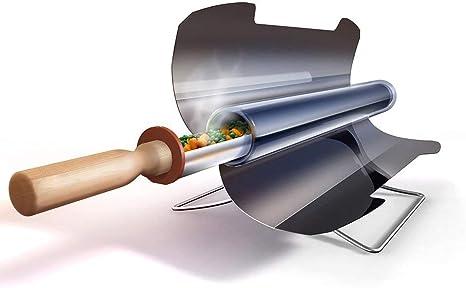 Vogvigo Horno Solar Portable, Barbacoa Cocina Solar portátil BBQ Estufa Grado alimenticio sin Humo Inoxidable Plegable, Fácil, Delicioso y versátil ...