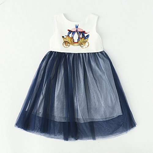 BRWCF Kids Clothes Girls Dress Summer 2017 Toddler Girl Clothing Princess Dress 2-8 Years (3T)