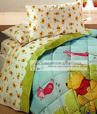 Winnie The Pooh Lenzuola.Caleffi Disney Lenzuola Winnie The Pooh Gioia Col Rosa Amazon It
