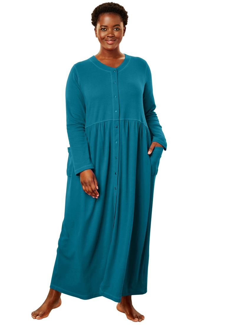 Only Necessities Women's Plus Size Long Knit Lounger