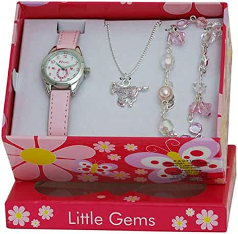 Ravel Little Gems Kids Horse Watch & Jewellery Gift Set For Girls R2213