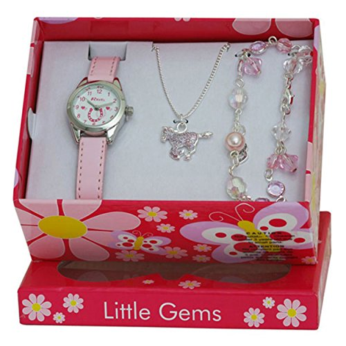 ravel-little-gems-kids-horse-watch-jewellery-gift-set-for-girls-r2213