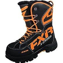 FXR Racing X-Cross Snowmobile Boots Black/Orange Mens 12 by FXR