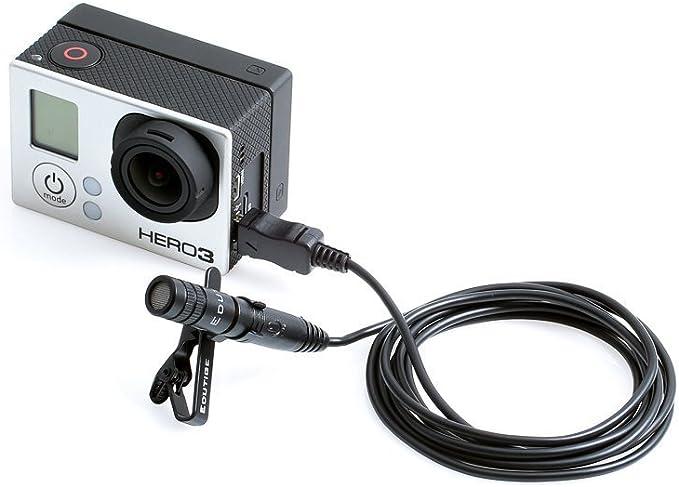 Gran Mini USB a 3.5mm Cable Adaptador De Micrófono Mic para Cámara GoPro Hero 3